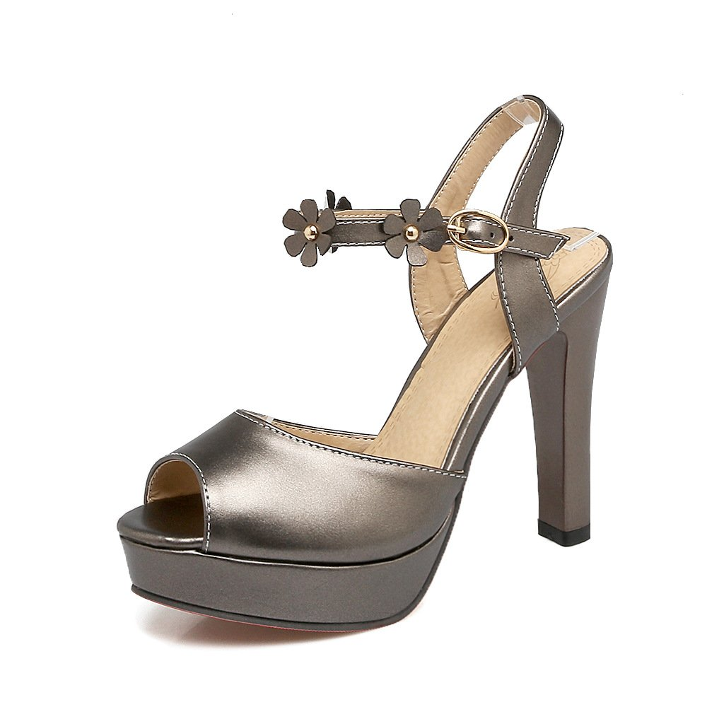 QIN&X Block der Sandalen Frauen Heels Peep Toe Plateau Sandalen der schwarz a8fcf0