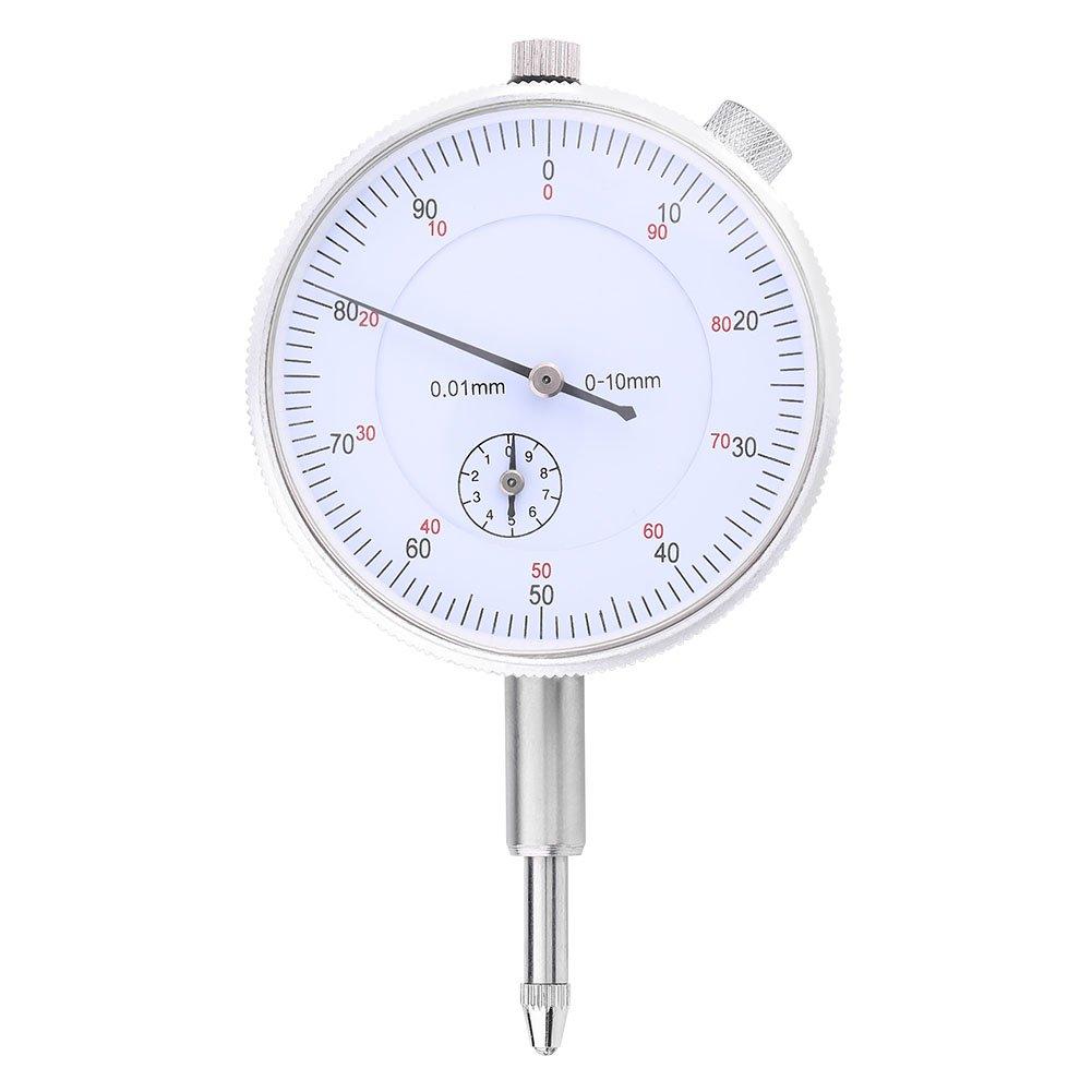Zerodis Dial Indicator Measuring Gauge High Precision Instrument Tool, Range 0~10mm, Accuracy 0.01mm
