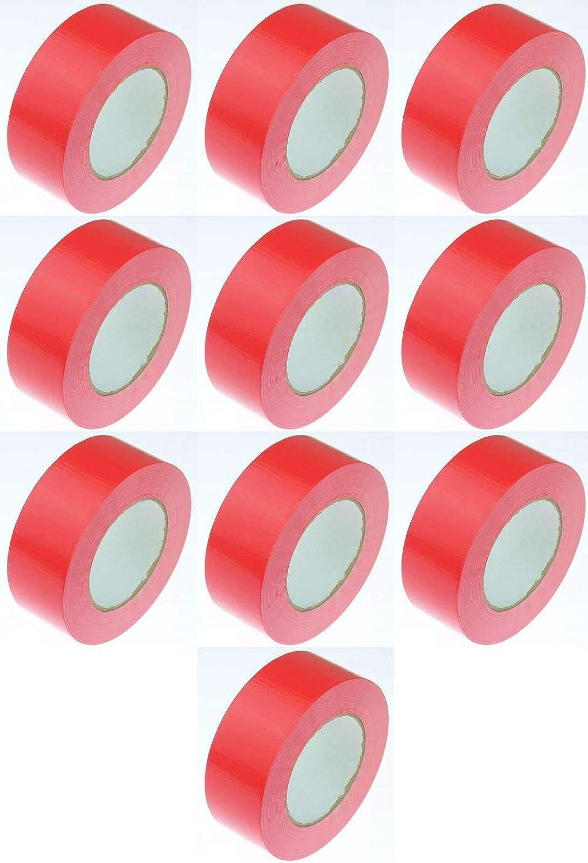 Rot Rot + Schwarz + Grau, 3 Rollen 3 Farben Panzerband Steinband Gaffa Tape Reparaturband Silber 3 Rollen Klebeband Gewebeband Panzerband 50 m x 48 mm je 1x Schwarz