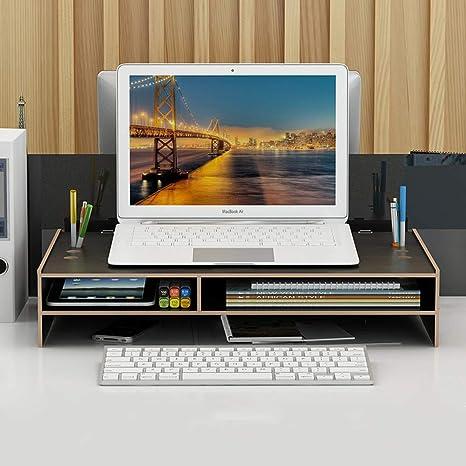 Amazon.com: Soporte para monitor de madera, soporte para ...
