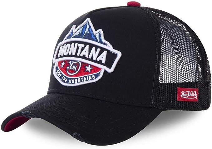 Von Dutch Montana - Gorra de béisbol, Color Negro y Azul Negro ...
