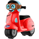 Chicco - Mini moto Vespa Turbo Touch, con carga por retroceso, color rojo