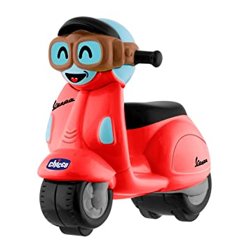 Chicco - Mini moto Vespa Turbo Touch, con carga por retroceso, color rojo: Amazon.es: Bebé