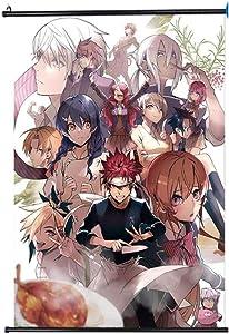 WUliuqi Food Wars Wall Scroll Anime Poster Hang Poster Otaku Cosplay Home Decor Gifts Hd Printing 40x60CM,15.75x23.62inch