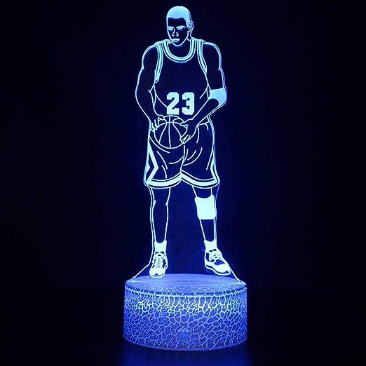 Niños Cumpleaños Regalo Baloncesto Tema Luces Nocturnas Michael ...