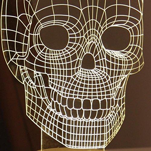 Jvr 174 Lh36 3d Visual Led Light Skull Shape 3d Wire Frame