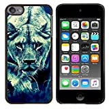 GREAT PHONE CASE GIFT // Mobile Phone Case Hard Case PC Derecative Cover Shell for Apple iPod Touch 6 6th Touch6 /Lion Feline Hunting Savannah Big Cat Photo/