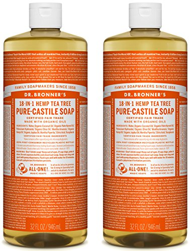 Dr. Bronner's Organic Pure Castile Liquid Soap, Tea Tree Oil