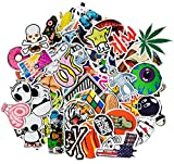 Korlon 100pcs Car Motorcycle Bicycle Skateboard Laptop Luggage Vinyl Sticker Graffiti Laptop Luggage Decals Bumper Stickers, 100 Pieces