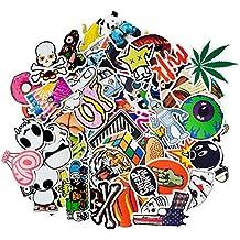 Korlon 100pcs Car Motorcycle Bicycle Skateboard Laptop Luggage Vinyl Sticker Graffiti Laptop Luggage Decals Bumper Stickers, 100 Pieces