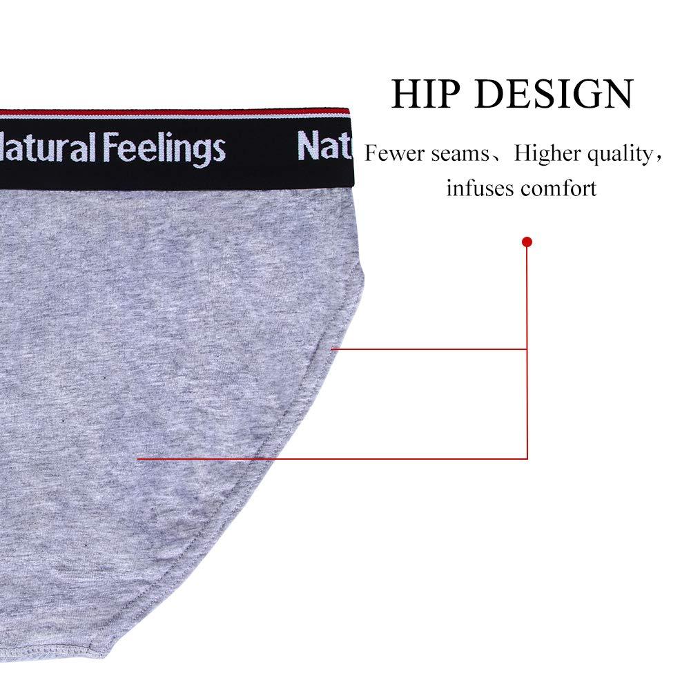 Lovemist Mens Underwear Briefs Soft Cotton Briefs Mens Pack Classic Slips Soft Waistband Underpants