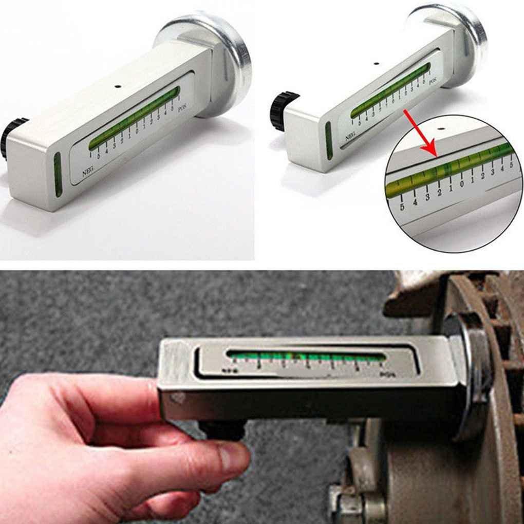 Mengonee 12.7x5CM DIY magné tico del coche del automó vil Camber Castor puntal de horario de alineació n de las ruedas Tool Kit Medidor