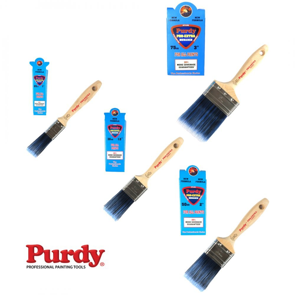 Purdy Pro-Extra Monarch Professional Decorating Paint Brush Full Set Of 4