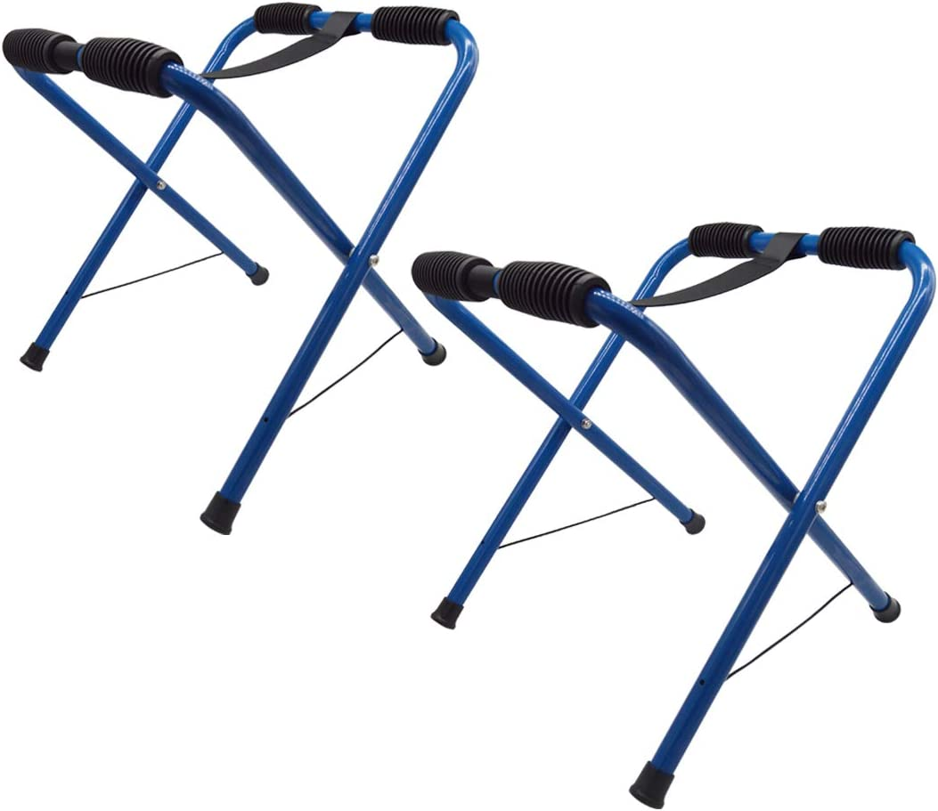 Nooew Newcod Kayak Stand, Aluminum Portable Boat Stand Canoe Storage Rack Indoor Outdoor Usage Kayak Stool, Blue