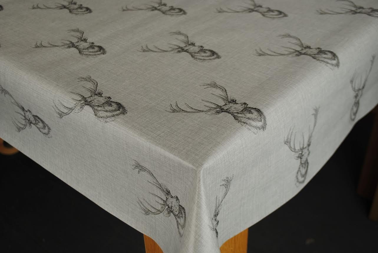 200cm x 137cm Heat Resistant Cream Table Protector by Karina Home ...