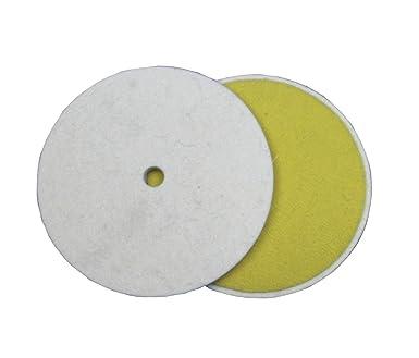 CS Unitec 80650 FIX Fleece Pack of 10 Disc for The FIX Hook and Loop System 6 Diameter Coarse Nonwoven Brown