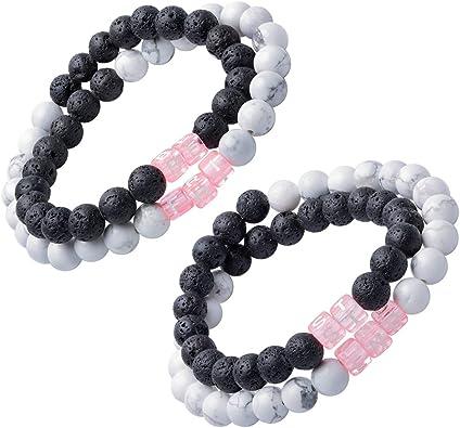 Surfer Bracelet White Lava Bead Bracelet Present for Her Gift for Him Lava Bead Gift 6mm 8mm beads Natural White Lava Rock