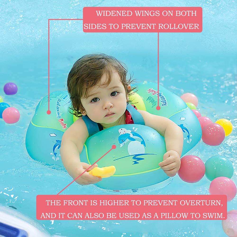 VSTON Anillo de Flotador de bebé Recién Nacido Baño Anillos Seguridad Seguridad Ayuda Flotador Nadar Inflable Flotador Anillo, 6-30 Meses