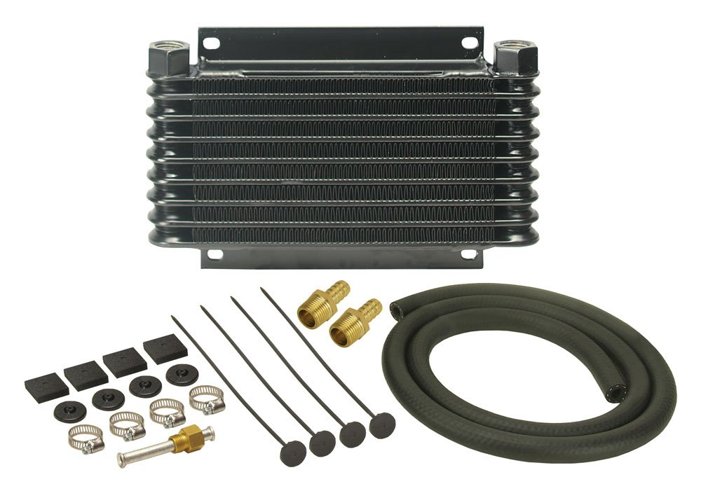 Derale 13612 Series 9000 Plate and Fin Transmission Oil Cooler