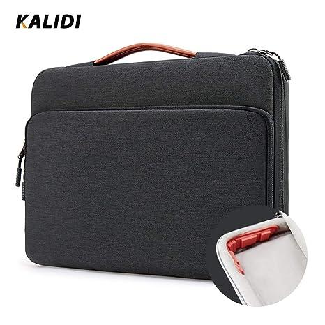 KALIDI Laptop Shoulder Bag Business Travelling College and Office. 17.3 Inch Notebook Briefcase Messenger Bag for Dell Alienware//MacBook//Lenovo//HP