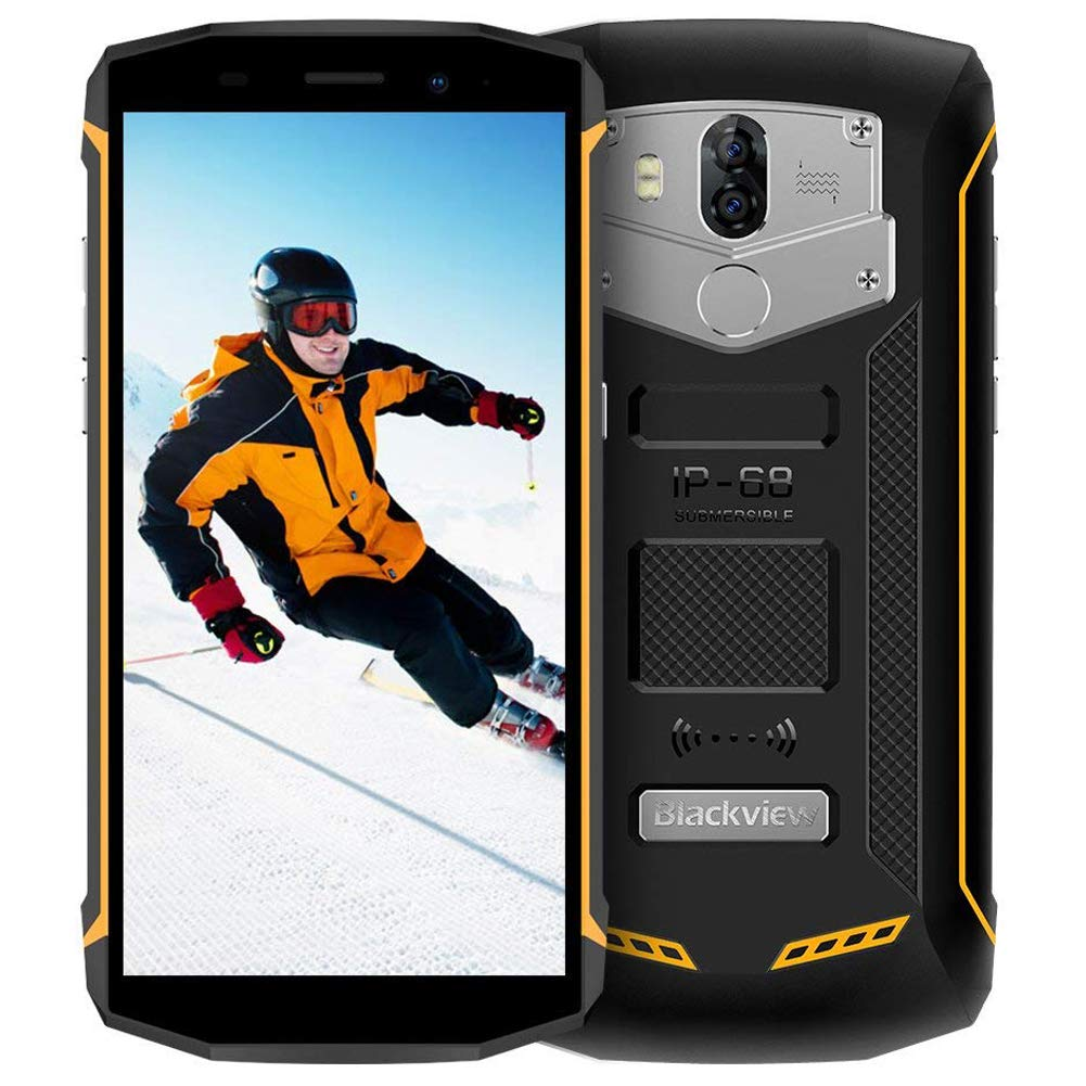 TALLA 2+16GB. Blackview BV5800 - Movil Antigolpes (5.5 Pulgadas 18: 9 FHD, 2GB RAM + 16GB ROM, 13MP + 8MP Cámara, Smartphone Android 8.1 Oreo, Batería 5580 mAh, Dual LTE 4G, NFC, OTG, GPS) Amarillo