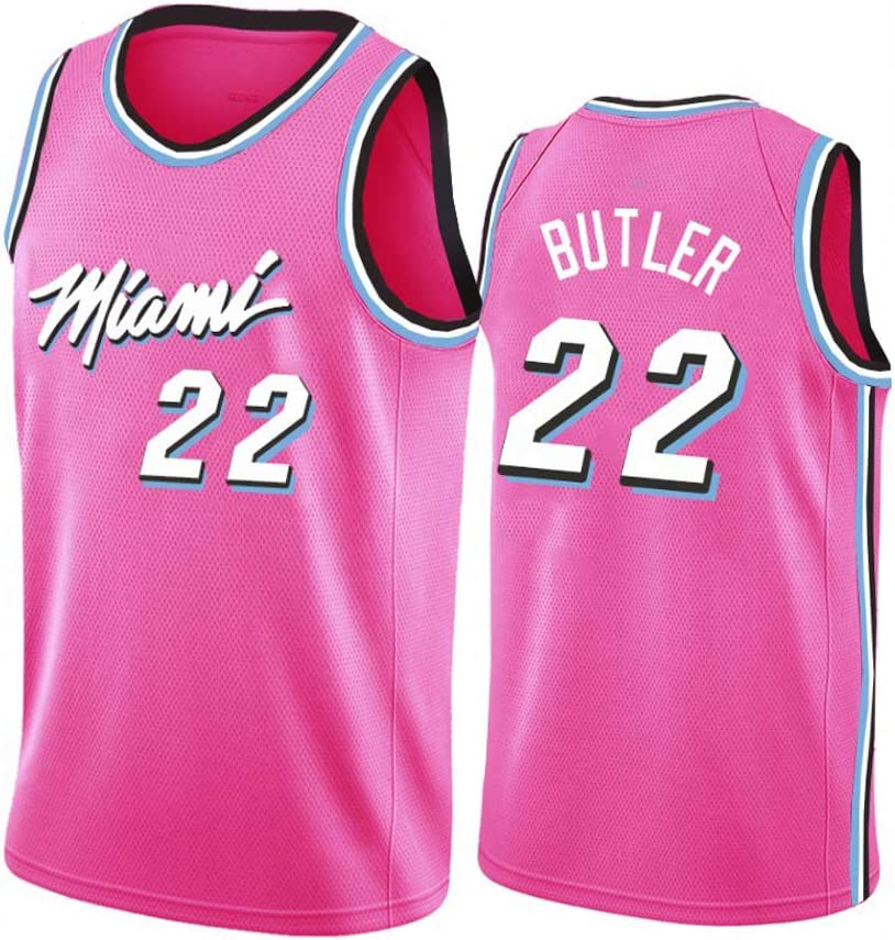 Breathable Mesh Colorful Swingman Sportswear Vest Heat Team # 22 Butler Basketball Jerseys Heat City Edition Basketball Uniform S-2XL .