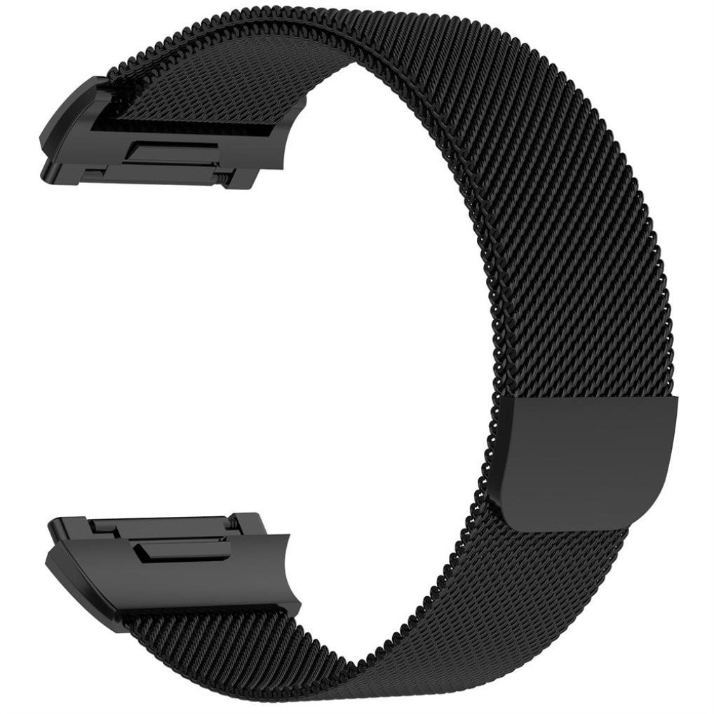 For Fitbit Ionic Bands, Gotd Magnetic Lock Milanese Loop Stainless Steel Replacement Strap For Fitbit Ionic, Small, Men Women (black)
