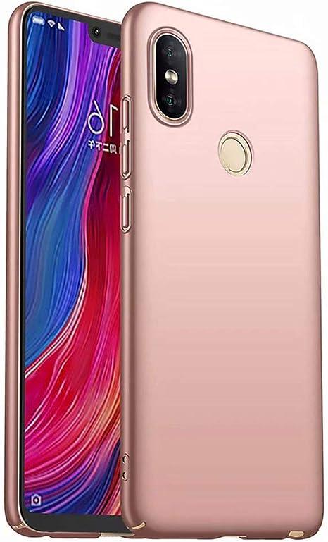 Qsdd Reemplazo para Xiaomi Redmi 6 Funda Ultra Thin Anti Scratch Carcasa de Telefono PC Dura A Prueba de Golpes de Silicona Caso-Oro Rosa: Amazon.es: Electrónica