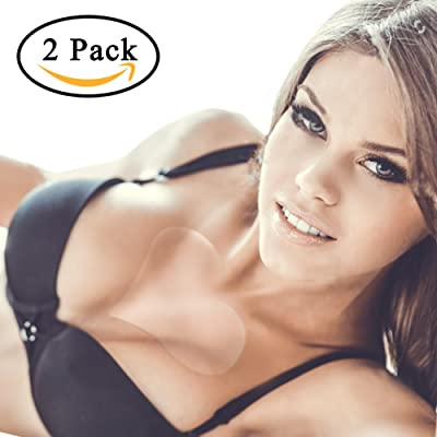 2 Pack Chest Wrinkle Pads,Coolar Silicone Chest Pads 100% Medical Grade Upgrade Viscosity Reusable More Than 30 Time Overnight Anti Wrinkle Remover Wrinkles Prevention&Elimination Chest Smoothing Kit