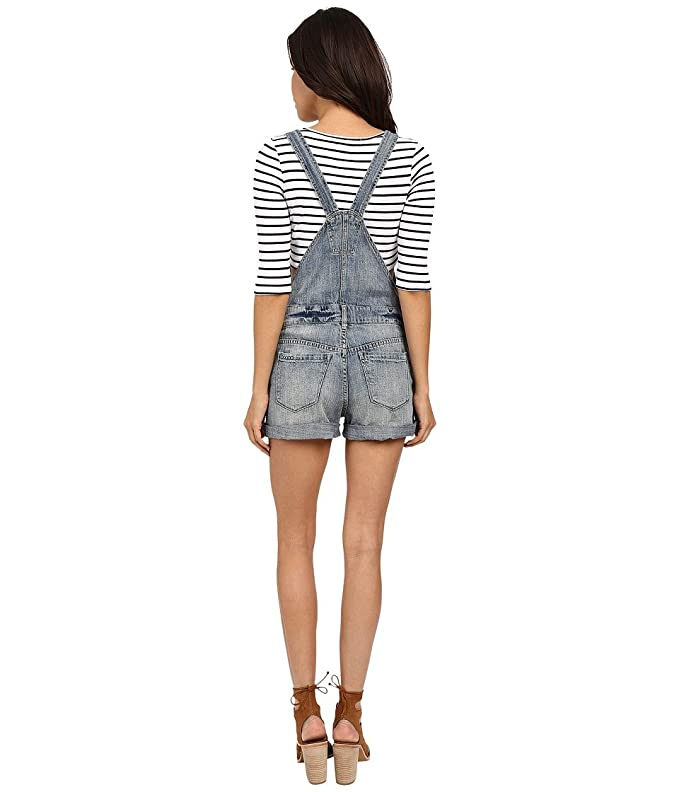 a18c81ee38 Blank NYC Women s Denim Short Overalls Denim Blue Pants 24 at Amazon  Women s Clothing store