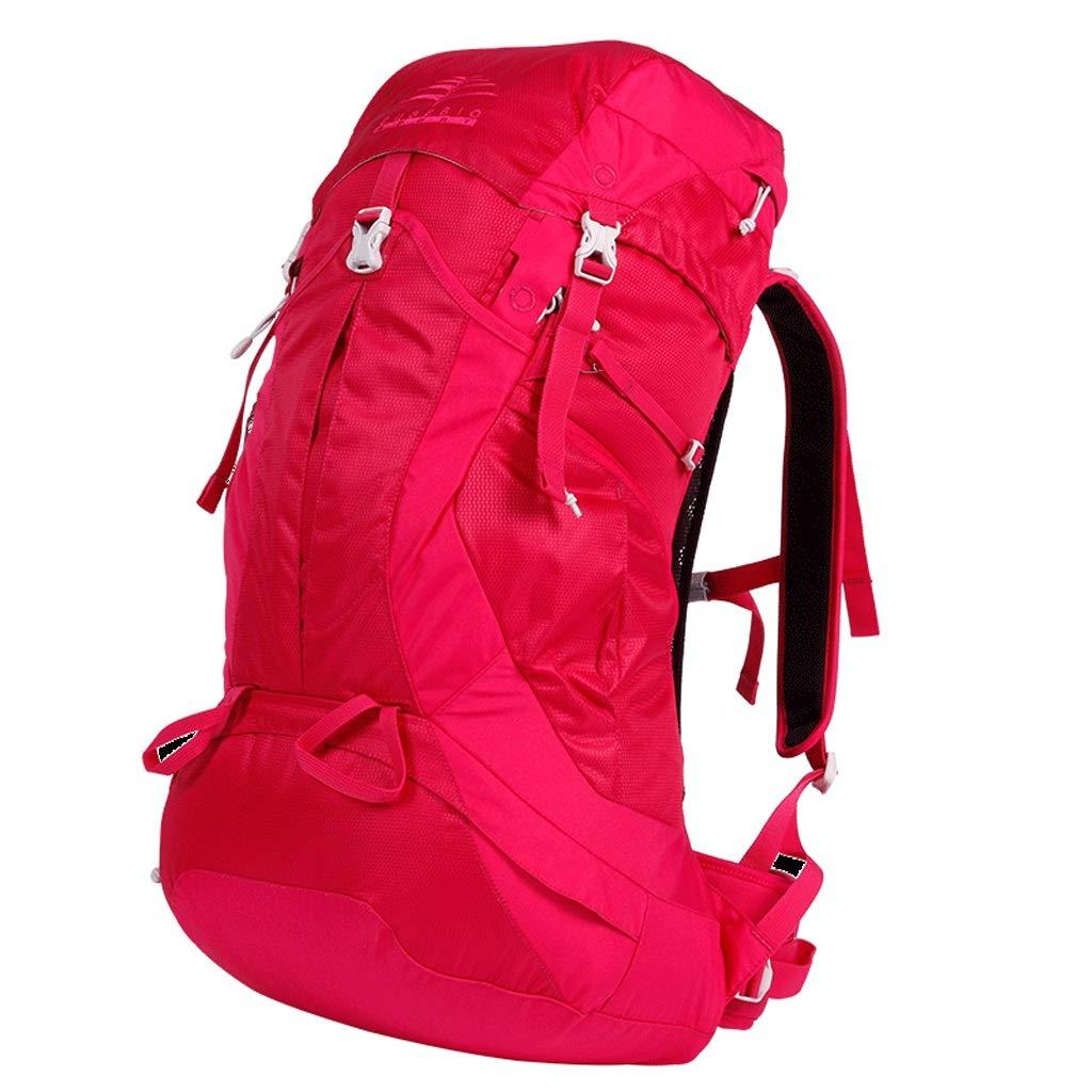 JSSFQK Sac à Dos Plein air pour Hommes et Femmes Multi-Fonctions de Grande capacité Alpinisme Sac à Dos d'alpinisme imperméable 45L résistant à l'usure Sac à Dos en Plein air (Couleur   rouge) rouge -