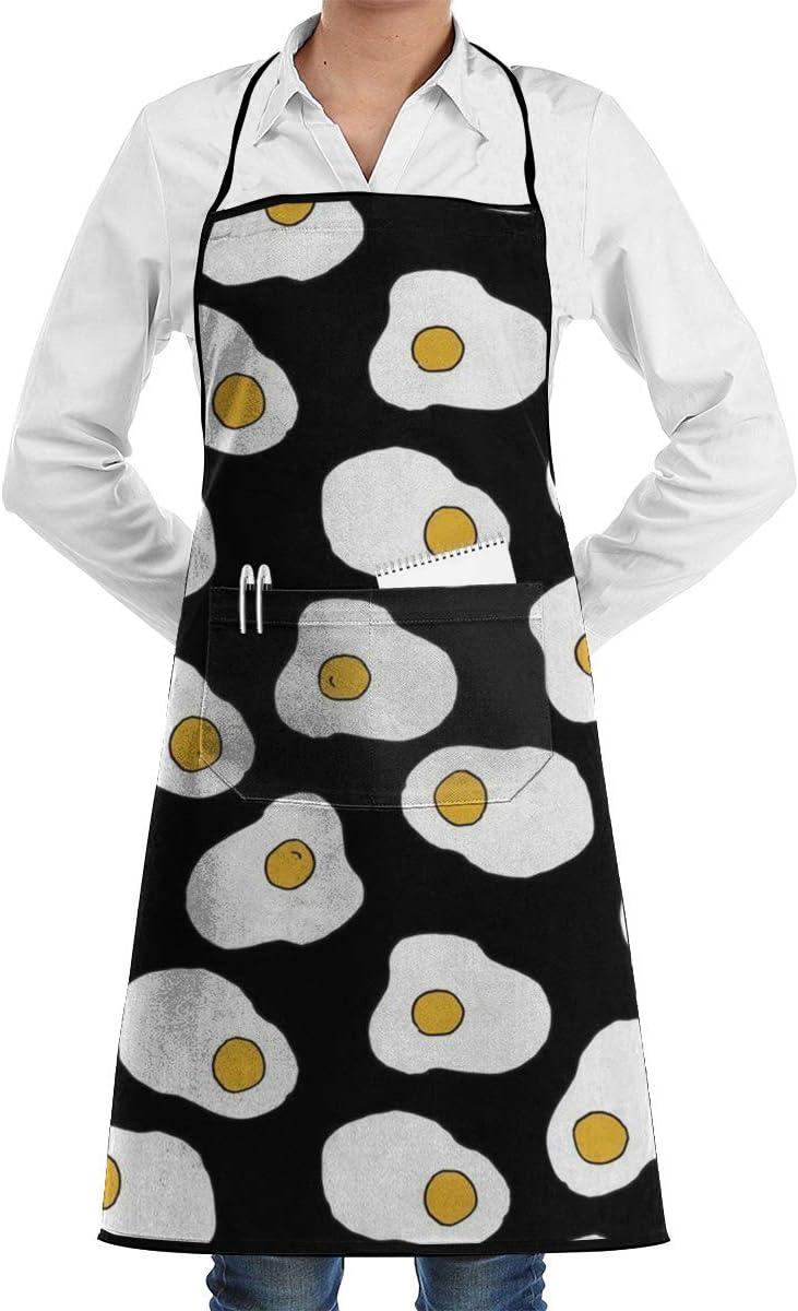 ONGH Delantal de Chef de Cocina Ajustable con Huevos y Corbatas ...