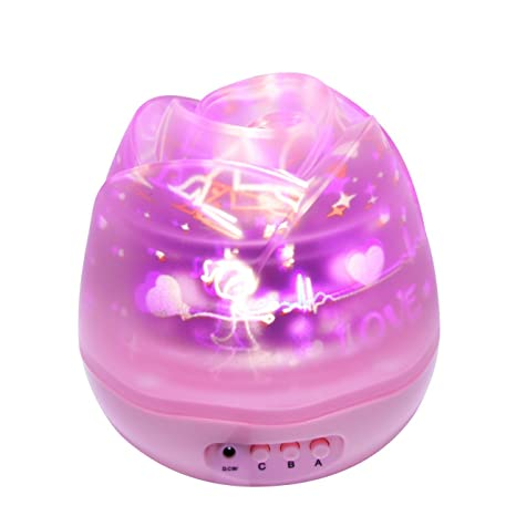 SUAVER Rosebud Proyector de Estrellas LED Proyectores,Recargable ...