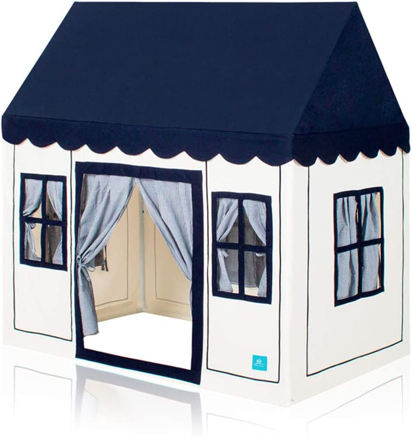 Petite Maison Kids Play House Tent, Hand Made Premium Quality Playhouse for Indoor & Outdoor, Light, Easy Assembly - Navy Blue