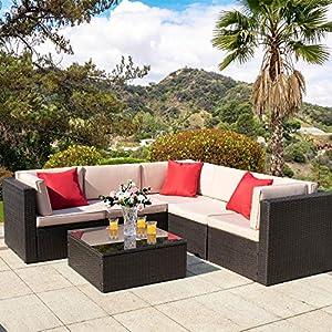 6183b0HkK7L._SS300_ Wicker Patio Furniture Sets