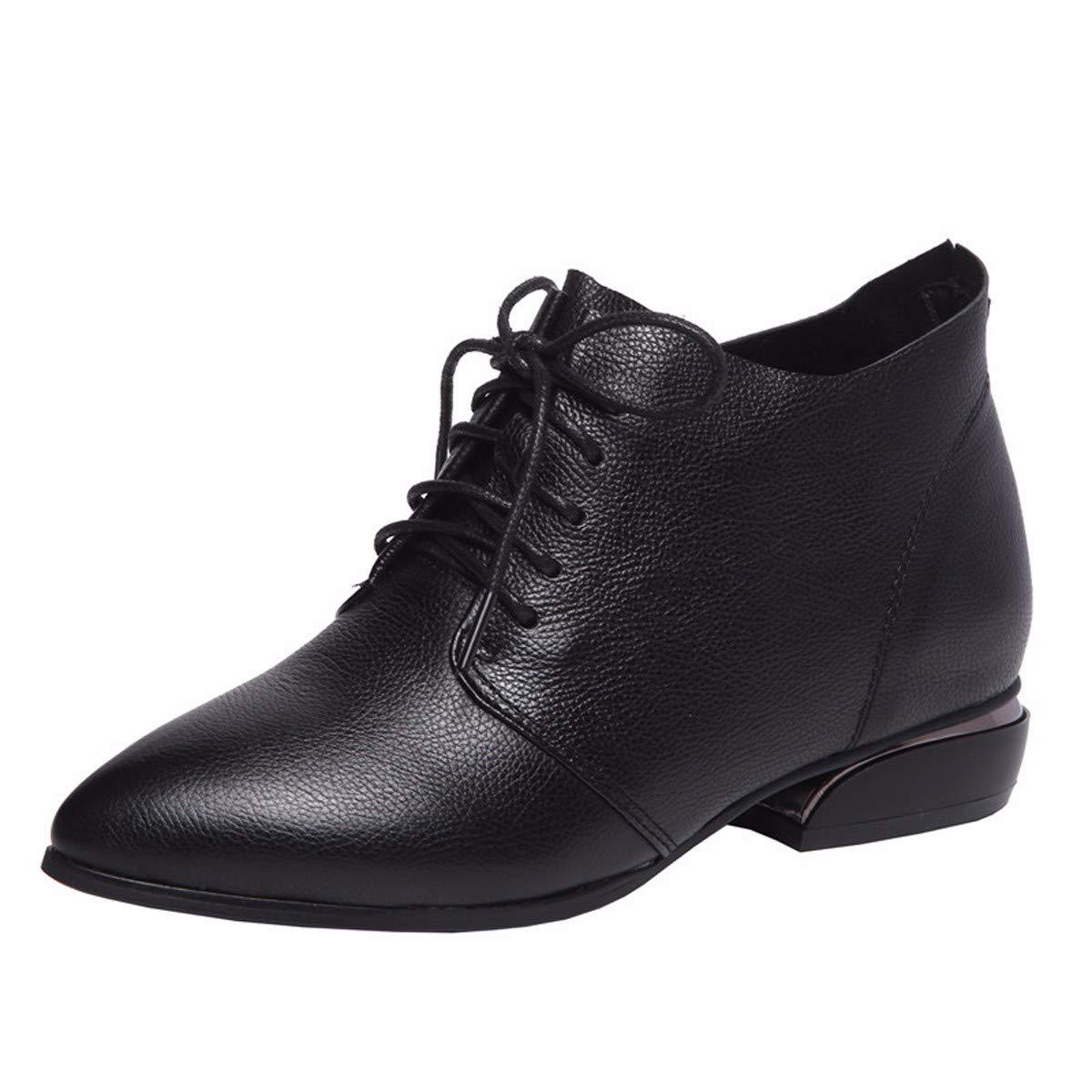 KOKQSX-Damen - Stiefel Leder innenhöhe Mode Kurze Stiefel ma dingxue