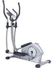 ISE Vélo elliptique magnétique Vélo d'appartement ergomètre Crosstrainer - Masse d'inertie 12kg - 8 Niveaux de Résistance