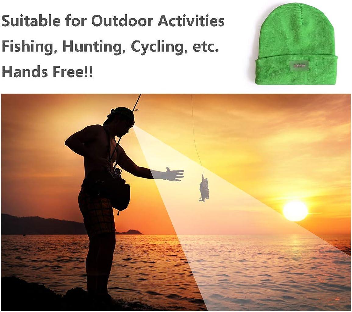 5 LED-Kappen ohne Kappeschirm Partys Outdoor-Aktivit/äten Festivals usw Angeln UltraKey Outdoor LED-Scheinwerfer-Kaschmir-Kappe geeignet f/ür Camping
