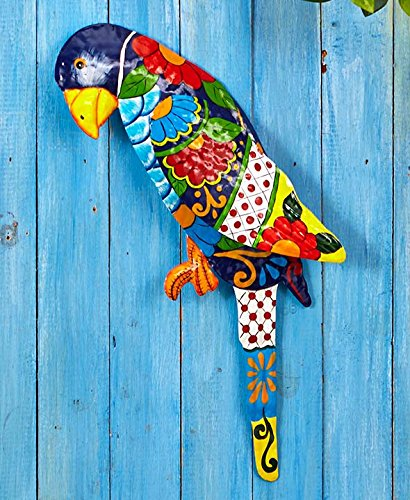 The Lakeside Collection Tropical Metal Sculptures - Parrot (Parrot Decorations)