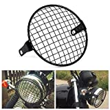 "VGEBY 6.3"" Universal Motorcycle Metal Mesh Grill Headlight Mesh Protector Guard Cover"