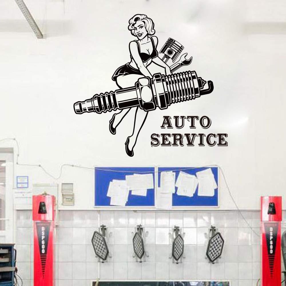 mlpnko Chica reparación de automóviles Etiqueta de la Pared Garaje ...