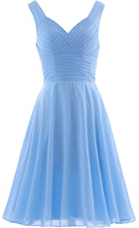 10a4d4445fd ANTS Women s Pleated Sweetheart Bridesmaid Dresses A Line Cocktail Gown