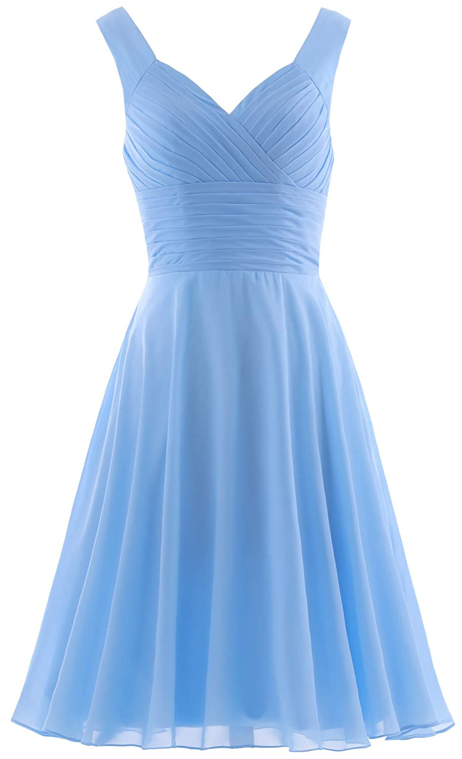 7862772f81e ANTS Women s Pleated Sweetheart Bridesmaid Dresses A Line Cocktail Gown at  Amazon Women s Clothing store