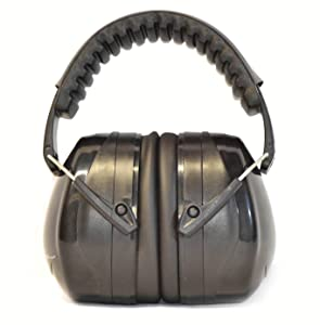 G & F 12010BL 34dB Highest NRR Safety Muffs-Professional Defenders Adjustable Headband Ear Protection, Shooting Hearing Protector Earmuffs Fits Adults to Kids Black