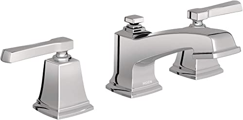 Moen 84820 Double Handle Widespread Bathroom Faucet from the Boardwalk Collection, Chrome
