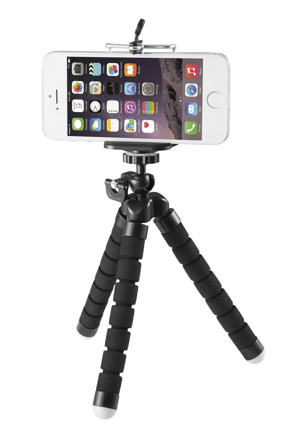 Flexible Tripod, Mini Stand Holder, Universal Travel Portable Tripod for Iphone,Phone,Smartphone, iPad, Digital Camera, Gopro -PrimeCables®