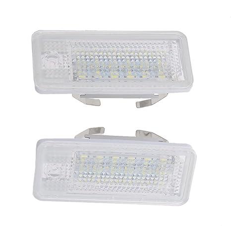 Matrícula LED Luz de Día 18-SMD Para Audi A8 A4 S4 B6 B7 A6