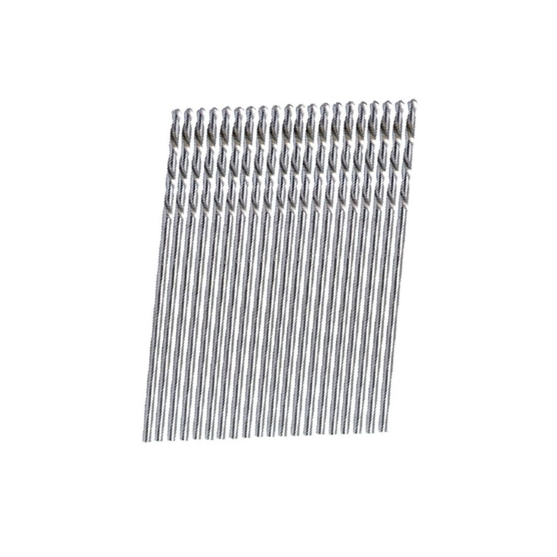 Straight Shank Twisted Drill Bit 20 Pieces Metal Straight Shank 0.8mm Twisted Drill Bit R SODIAL
