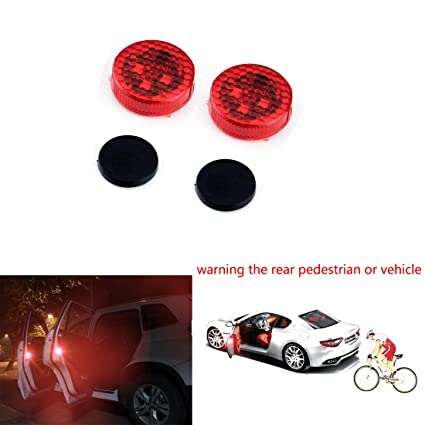 Enjoyable Amazon Com Smkj Universal Car Door Wireless Safety Led Light Wiring Database Numdin4X4Andersnl