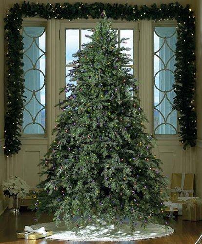 75 Downswept Hunter Fir Pre Lit Artificial Christmas Tree Multi